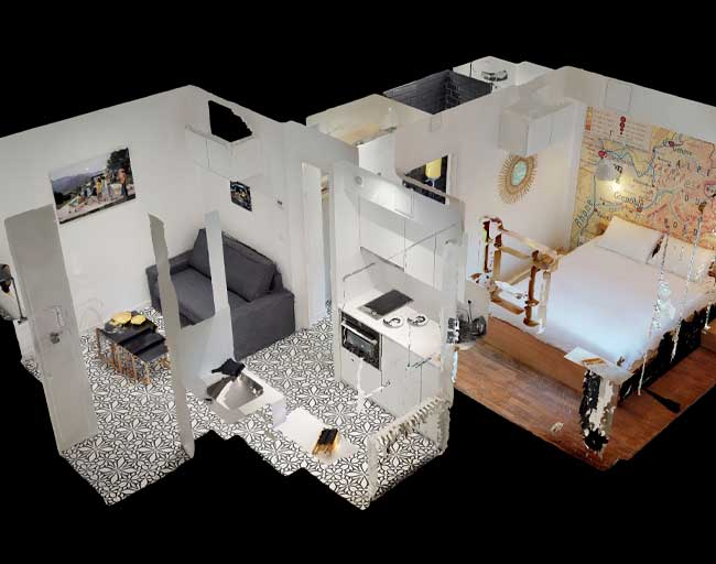 visite virtuelle immobilière en 3D, immersion en visite immobilière en ligne